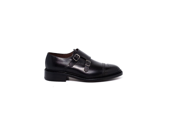 Goodyear Black Double Monk Strap Shoe