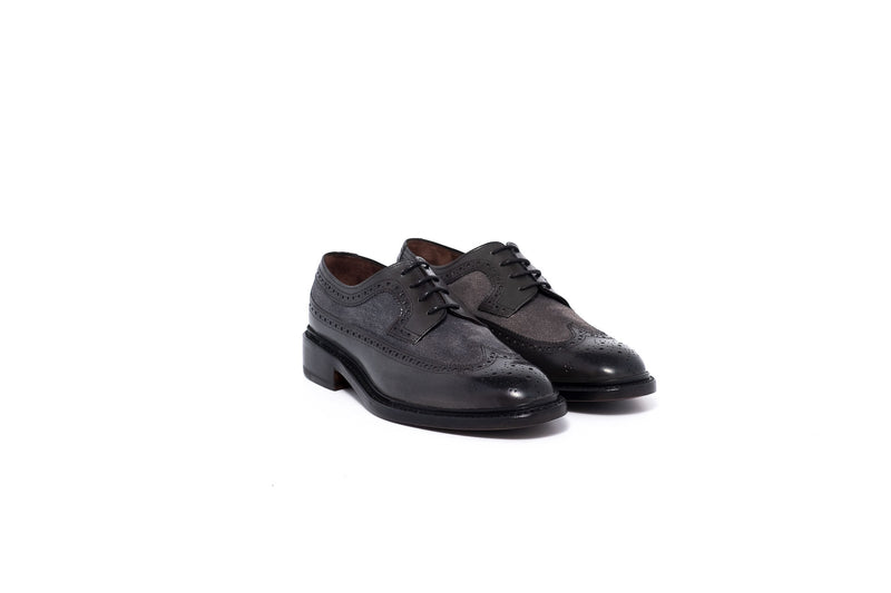 Goodyear Black Grey Suede Derby Shoe