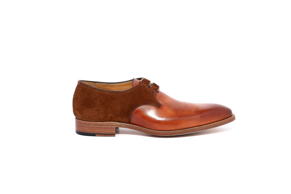 Goodyear Brown Derby Leather and Suede Lace up