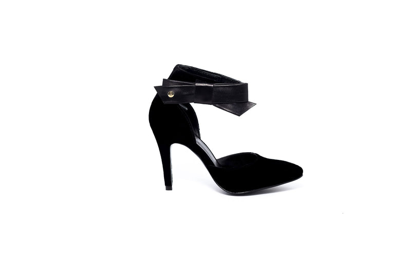 Sara Black Bow High Heel
