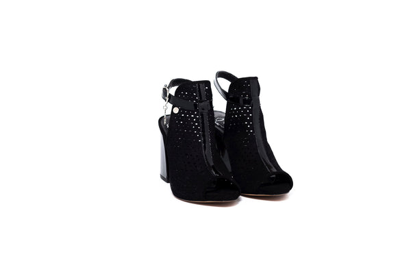 Lia Black Block Heel