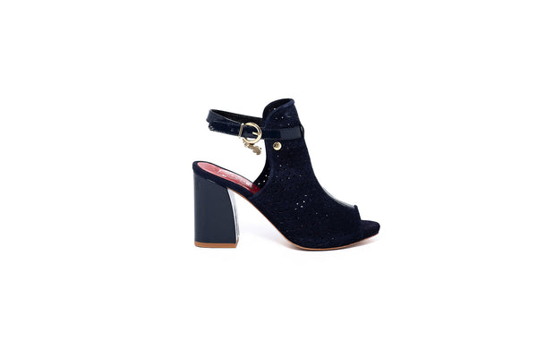 Lia Navy Block Heel