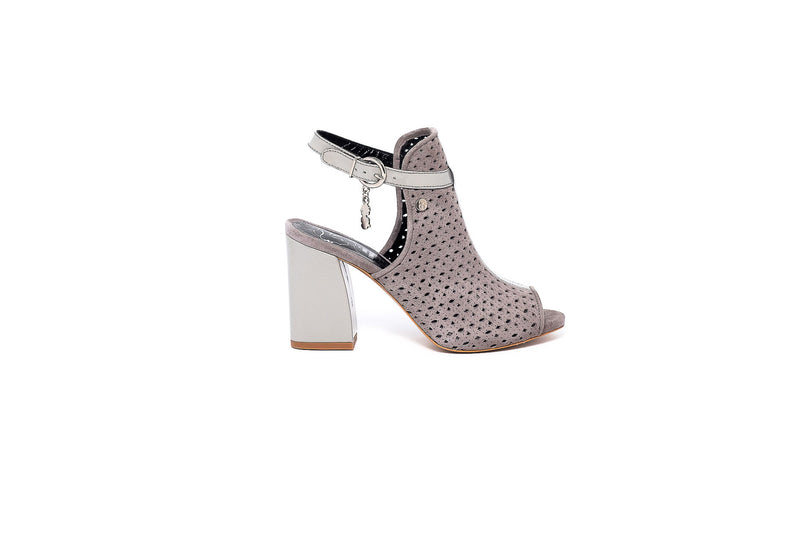 Lia Grey Block Heel