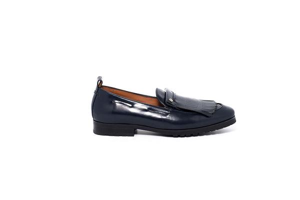 Navy Patent Loafer