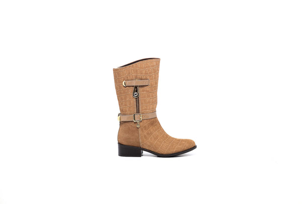Tan Croco Cowboy Boot