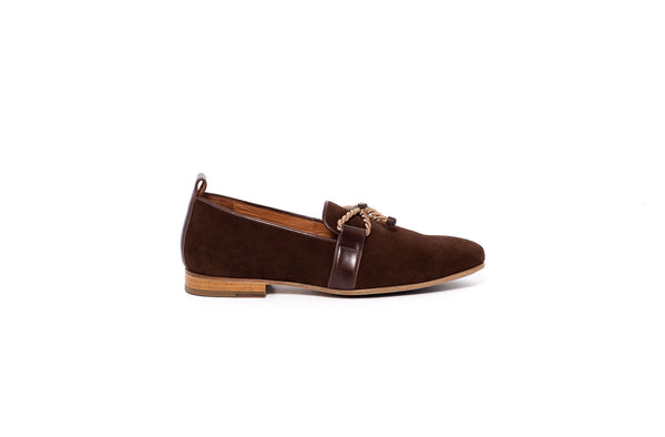 Brown Loafer With Rope Detail