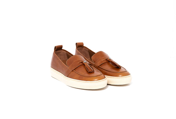 Tan Loafer With Tassel Detail