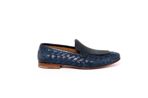 Petroleum Blue Leather Loafer