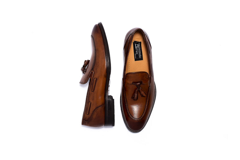 Delor Brown Slip on with Tassel