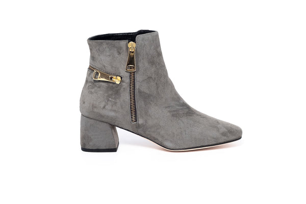 Grey Suede Ankle Boot
