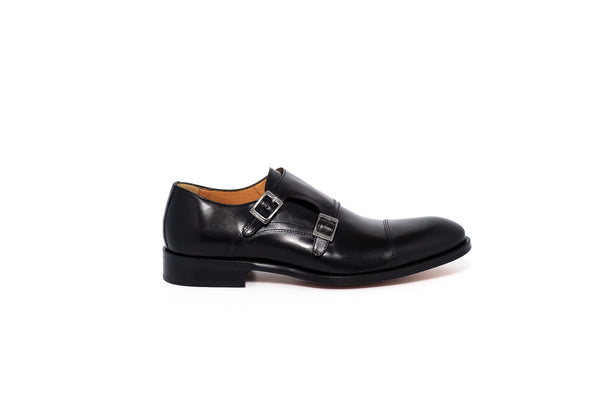 Rest Black Double Monk Strap