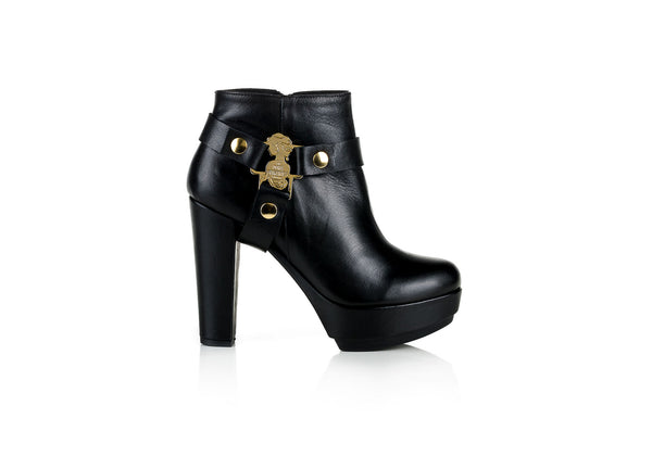 Telma Black Leather Boot