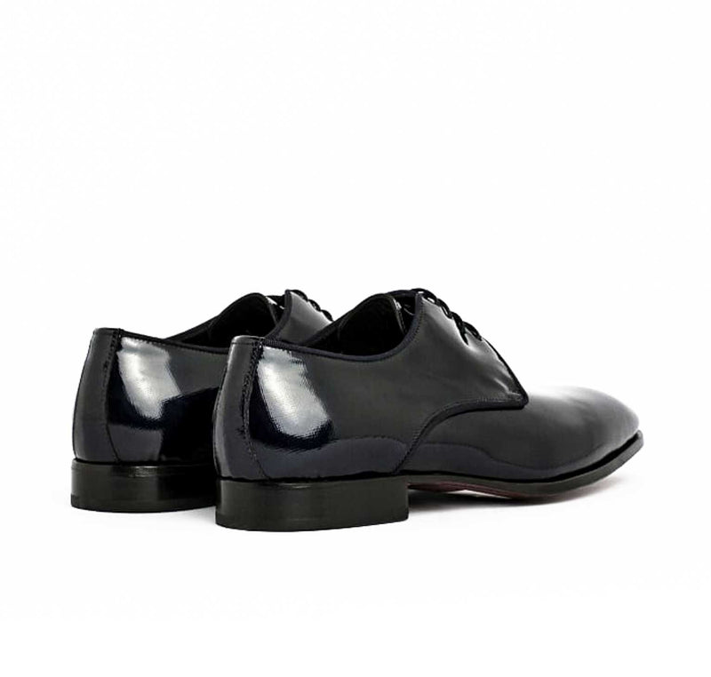 Patent Black Derby Lace Up