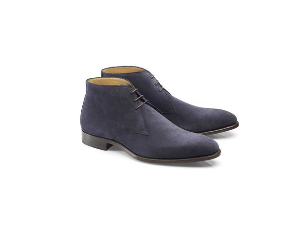 Navy Suede Chukka Boot