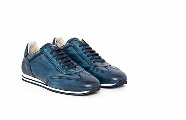 Blue Lace Up Sneaker