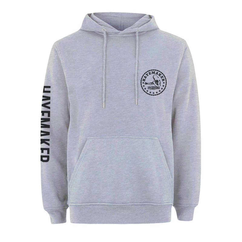 Vintage Range Black on Grey Premium Hoodie