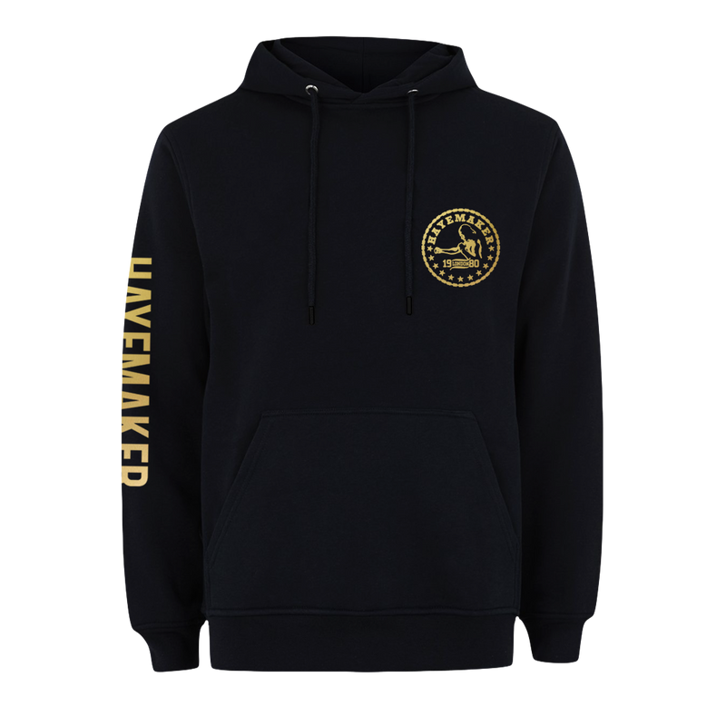 Vintage Range Gold on Black Premium Hoodie