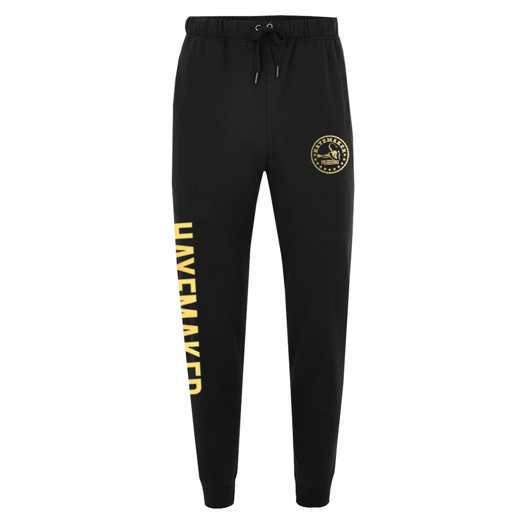 Vintage Range Gold on Black Premium Joggers