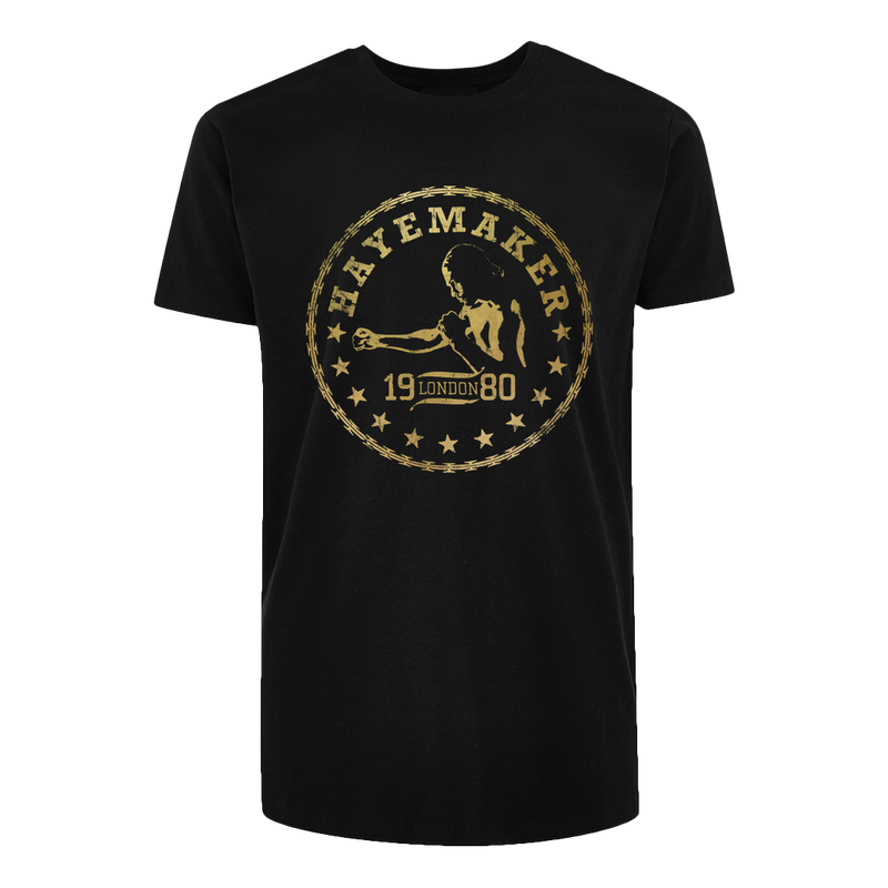 Vintage Range Gold on Black Premium Tshirt