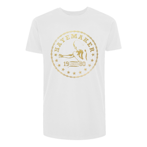Vintage Range Gold on White Premium Tshirt