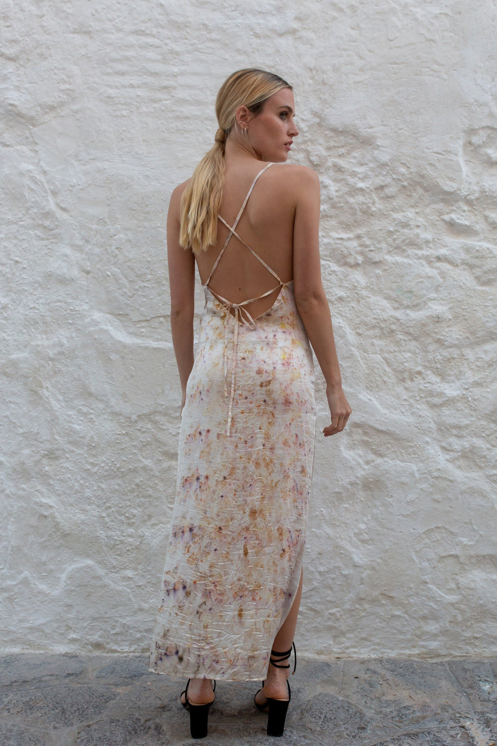 Spicy Flowers Slip Dress - Unique piece - Audace Manifesto