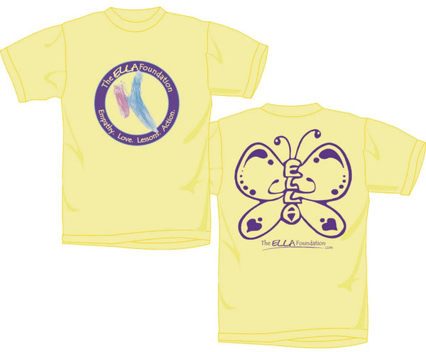 Child Yellow ELLA Butterfly T-Shirt