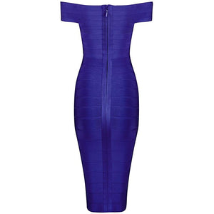 Atami Doll Over-The-Shoulder Bandage Dress, Dresses - Wanderlust Coutures