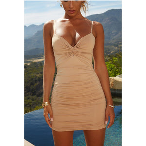 Kailua Knot Ruched Dress, Dresses - Wanderlust Coutures