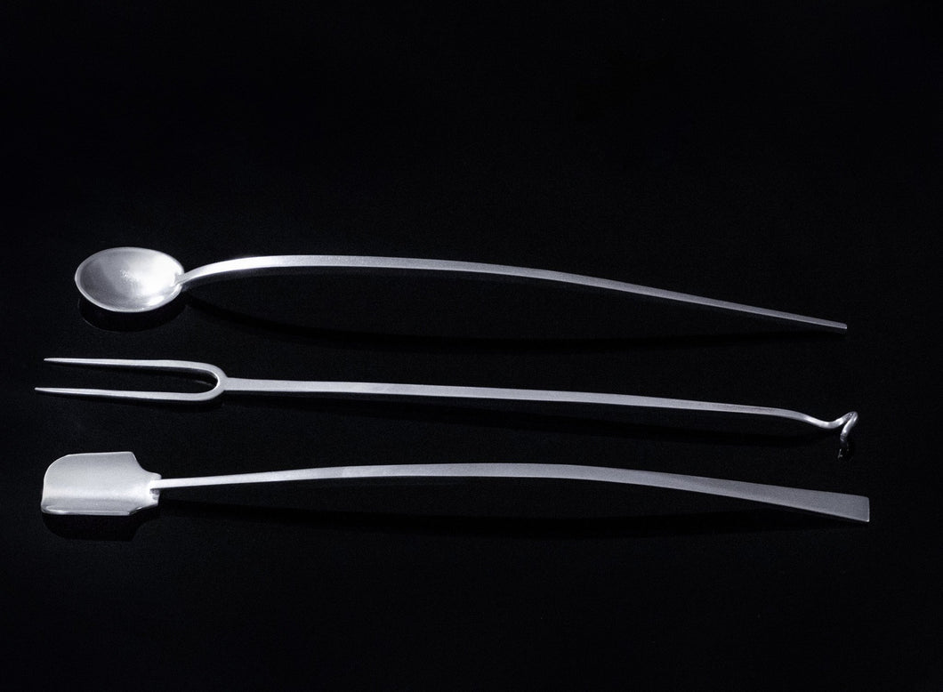 Barware Stirrer 3 Piece Set:  Spoon, Scoop and Fork