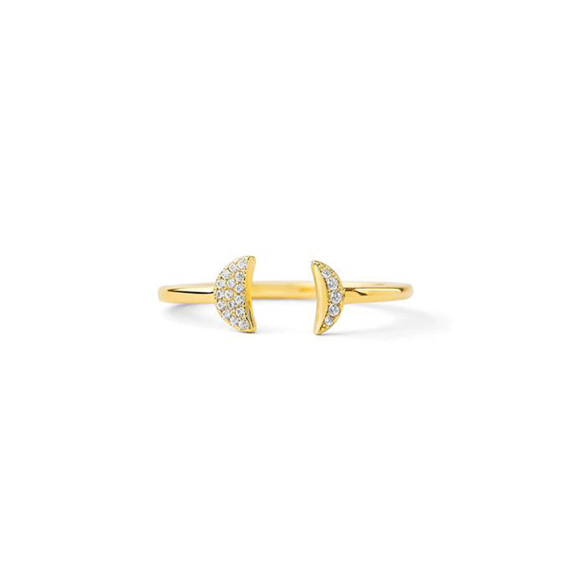 PHASE - Diamond Pave Double Crescent Ring