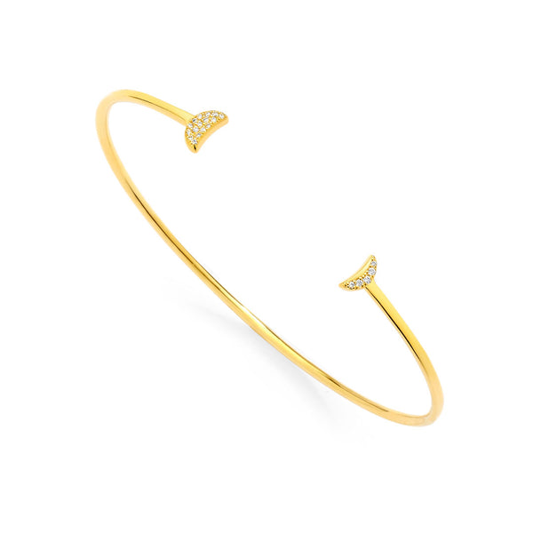 PHASE - Double Pave Crescent Open Cuff