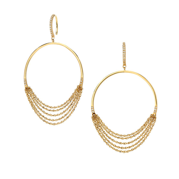 PHASE - Frontal Hoop Drop Earrings