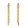 ECLIPSE - Diamond Pave Disc Fringe Convertible Earrings