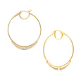 ECLIPSE - Diamond Pave Baguette Sliding Crescent Grand Hoop Earrings