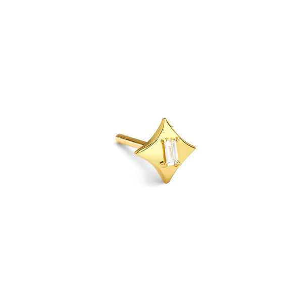 AURORA - Baguette Star Single Stud Earring