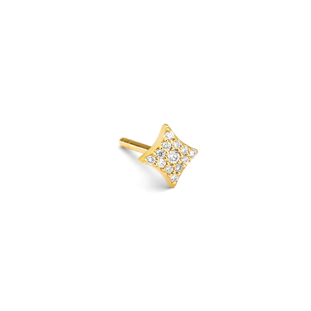 AURORA - Pave Star Single Stud Earring