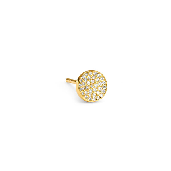 PHASE - Pave Round Single Stud Earring