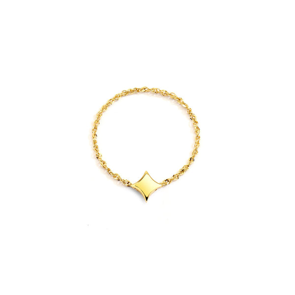 AURORA - Gold Star Chain Ring