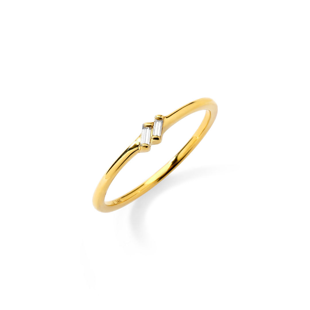 PHASE - Double Baguette Ring