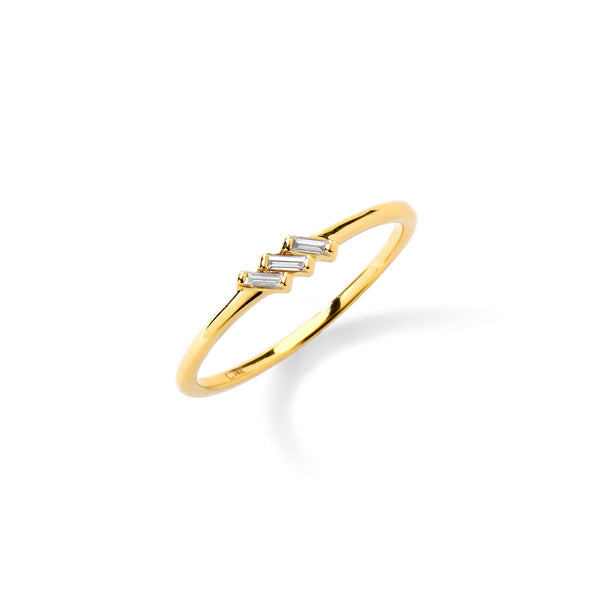 PHASE - Triple Baguette Ring
