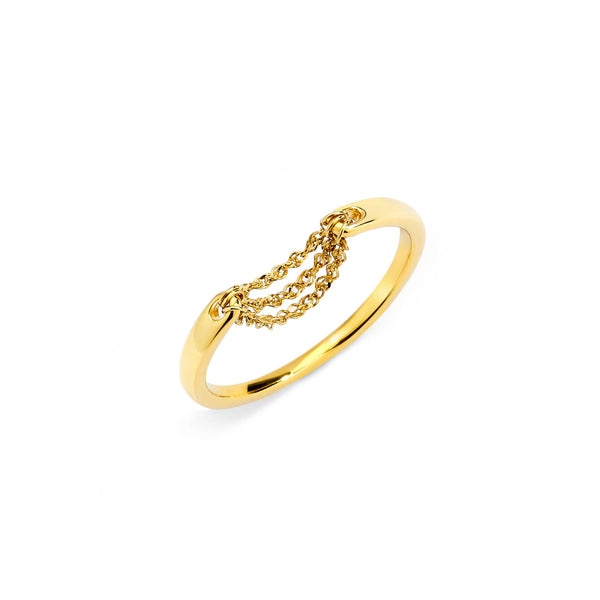 FLARE - Chain Drape Ring