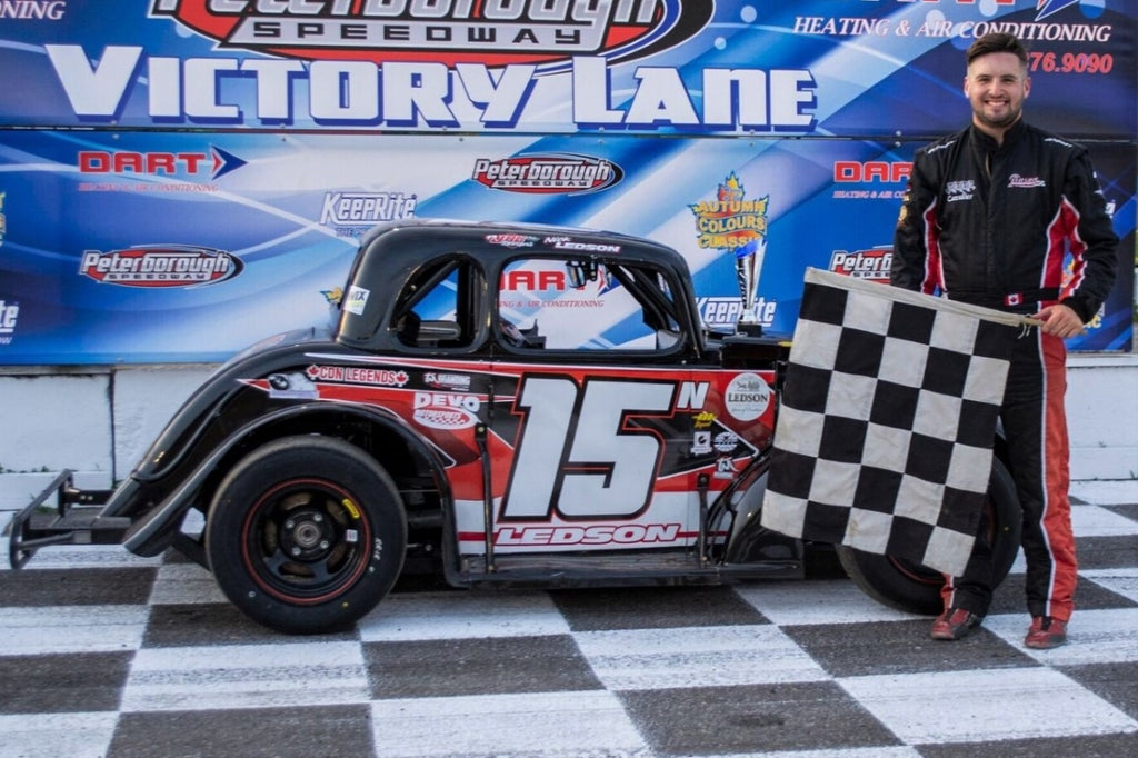 Ledson Sweeps Peterborough Speedway Ontario Legends Series Features…Again