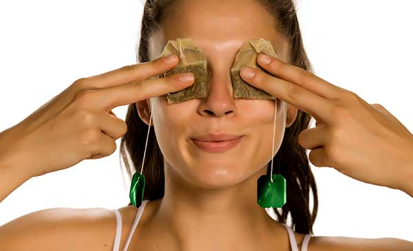 Use for tea bags on eyes