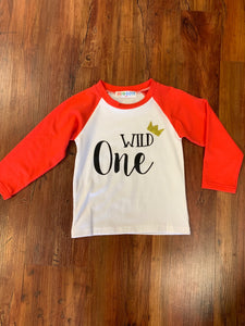 Wild One White and Red Shirt - 50% Off