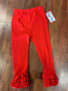 Red Ruffle Pants - 50% Off