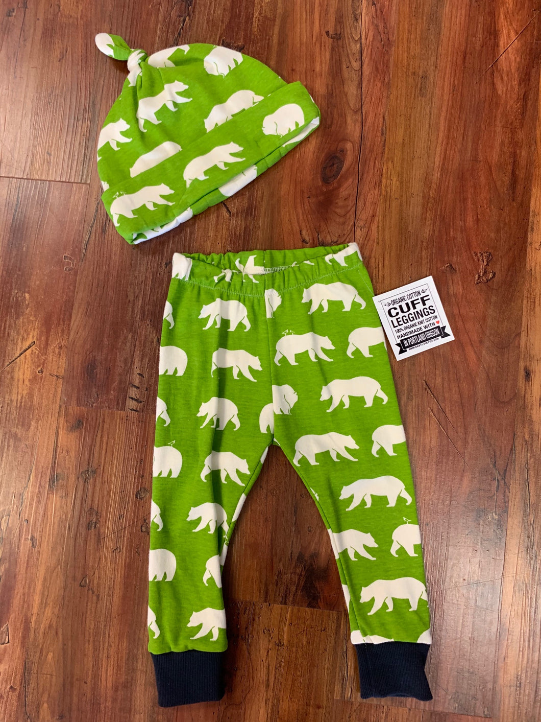 Green Bear Pants and Hat - 50% Off