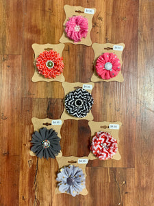 Large Flower Clips with Centers