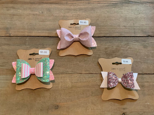 Pink Glitter Bows