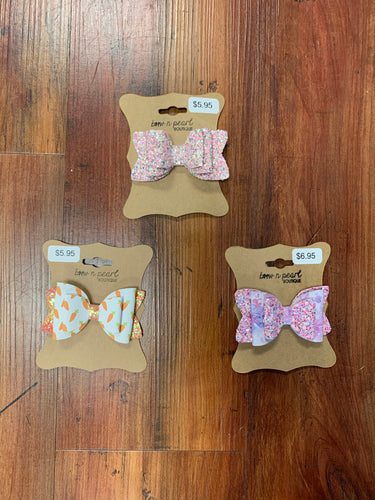 Medium Glitter and Pattern Bows