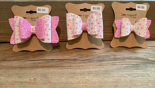 Pink Glitter Flamingo Bows